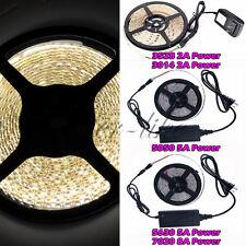 5M SMD 3528 5050 5630 7020 300LEDs RGB White LED Strip Light 12V Power Supply FC