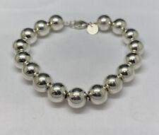 "Tiffany & Company Sterling Silver Bead Bracelet 7.25"""