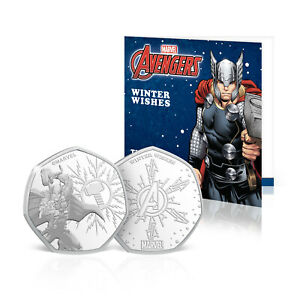 Official Marvel Thor Christmas Card Stocking Filler With Collectable Coin Gift