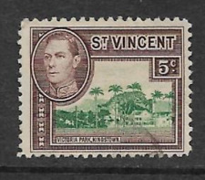 ST. VINCENT ISSUE KGV1 USED DEFINITIVE 1949 STAMP - KGV1 & VICTORIA PARK