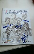 2015 Michigan Sports Hall of Fame Program - autographed Tom Izzo & More