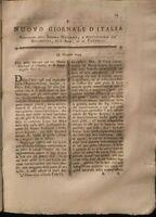 1794 RIVISTA ILLUSTRATA: STORIA NATURALE FISICA CHIMICA STUDIO SULLA CICERCHIA