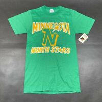 NEW Vintage Minnesota North Stars Tee T Shirt Mens S Green Starter NHL Cotton