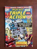 Marvel Triple Action #14 (1973) 7.0 FN Bronze Age Comic Book Avengers Captain