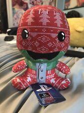 New Little Big Planet Stubbins Holiday Sackboy Knit Plush Sony PS3