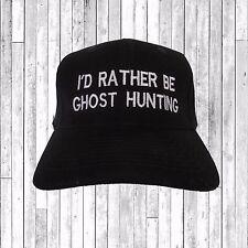 ID más bien ser Fantasma Caza Bordado Sombrero Gorra de béisbol Tumblr pintrest tendencias