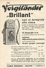 W7710 Col VOIGTLANDER Brillant non si fotografa alla cieca - Pubblicità del 1933