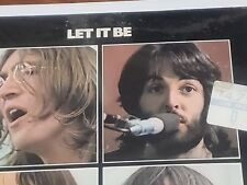 Beatles Sealed Promo Sticker Let It Be 1970 Lp Rare Minty