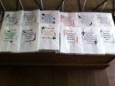 """12 Irish Blessings Quilt Blocks,  machine embroidered 12""""x12"""""""