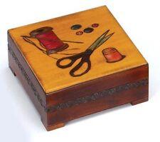 SEWING BOX Polish Handmade Linden Wood Keepsake Mother's Day Wedding Christmas