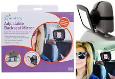 Dreambaby Car Adjustable Rear View Back Seat Headrest Baby Safety Mirror Large