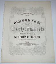 Old Dog Tray - Stephen Foster - Sheet Music - First Printing - 1853