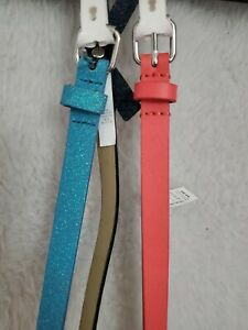 Cat & Jack NWT Girls Pink Blue Pack of 3 Belts Size M
