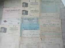 16 Old Antique Halifax Nova Scotia Letterheads Various Businesses 1900-1920