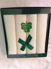 Vintage Thomas Ferguson Irish Damask Linen Napkins 16x16~Set Of 4~NEW In Box