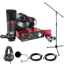 Focusrite Scarlett Solo Studio Pack 2nd Gen & Record Bundle w/ Headphone Bundle