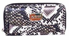 Kenneth Cole Women URBAN ORGANIZER Faux Python Leather Ladies WALLET Black i732x