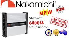 Nakamichi NGTD6001 6000 Watt Peak Mono Block D Class 1 Channel Car AMP Amplifier