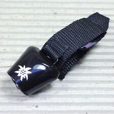 ebos AlpenHupe schwarz mit weißem Edelweißmotiv Montage am Lenker