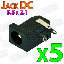 5x Conector DC Jack Hembra 5,5 x 2,1 alimentacion circuito integrado Arduino