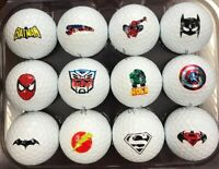1 Dozen ( Super Hero Logos) Titleist Pro V1 Collectors Edition Golf Balls + Tees