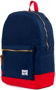 Zaino Uomo Donna Herschel Backpack Men Woman Settlement Classic Navy/Red Port...