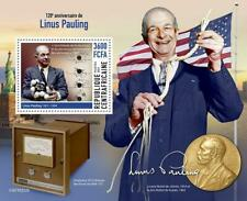 More details for central african rep 2021 mnh science stamps linus pauling chemistry nobel prize