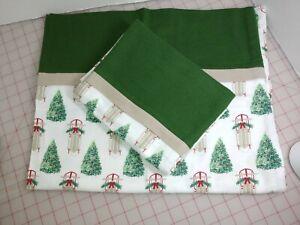 2 Christmas Standard/Queen Size 100% Cotton Flannel Pillowcase New Handmade