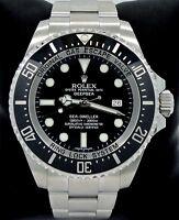 ROLEX SEA-DWELLER Deepsea 116660 Oyster SS Ceramic Bezel Watch *MINT CONDITION*