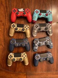 Lot of Eight (8) official Sony PlayStation 4 (PS4) controllers