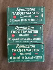 Vintage Remington .38 Special Targetmaster Ammo Boxes, lot of 3 (no ammo)