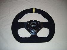 "Steering Wheel Suede 255mm 10"" Inch Flat D shape IVA Kitcar Race Rally Car New"