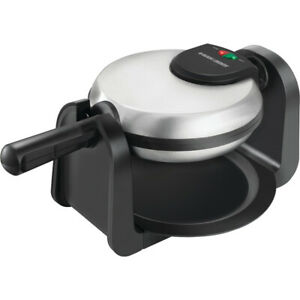 Black & Decker Rotary Waffle Maker in Black and Stainless Steel - WM1404S