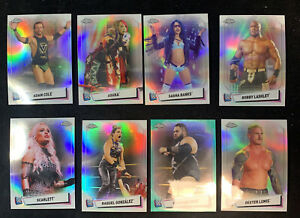 2021 Topps Chrome WWE refractor  15 card lot 🔥numbered/150 🔥📈