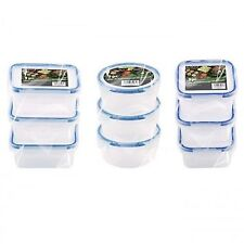 New 9 pack Clip & Lock lids Containers Storage Plastic Boxes Fresh Food/liquid