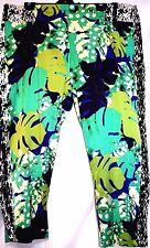 plus sz XL / 24 TS TAKING SHAPE Jungle 7/8 Crop Pants stretch comfy sateen NWT!
