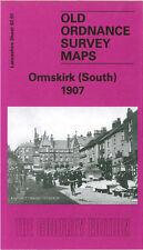 Old Ordnance Survey Map Ormskirk South 1907 The Ruff Aughton Street Brook Lane