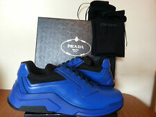 PRADA 100% Leather Lace-up Casual Shoes for Men