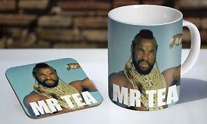 Mr T Mr Tea A Team Tea / Coffee Mug Coaster Gift Set