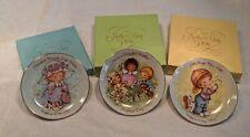 """3 Mother's Day Avon Mini Vintage Porcelain Collectors 5"""" Plates"""