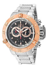 New Men's Invicta 10192 Subaqua Swiss Chrono Black Textured Dial Steel Watch