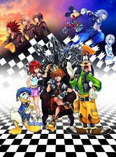 Kingdom Hearts Boy 1 2 Game Fabric Art Cloth Poster 17inch x 13inch Decor 34