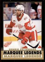 2020-21 O-Pee-Chee Retro Black Border Marquee Legends 535 Henrik Zetterberg /100