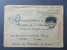 Germany 1942 DENIS / Oflag VIII Censor POW Cover to Switzerland - Z8085