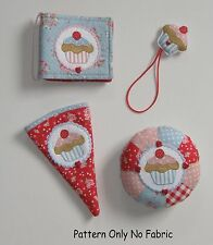 PATCHWORK / QUILTING  CUP CAKE SEWING TIDY PATTERN by Gail