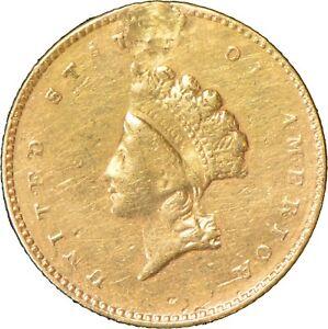 1854 Type-2 G$1 Indian Princess Head Gold Dollar Lot#Z802