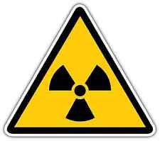 "Radiation Danger Sign Car Bumper Window Locker Sticker Decal 4""X5"""