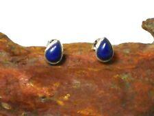 Blue LAPIS Lazuli Gemstone Sterling Silver 925  Stud Earrings