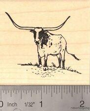 Texas Longhorn Cattle Rubber Stamp H13508 WM