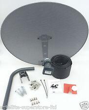 Sky Satellite Dish Zone 2 & Quad LNB + Full 40m Twin Black Install Kit + MORE